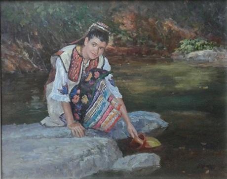 """Miloš Bojović - Ulje na platnu 16 x 12"""" ($400)"""