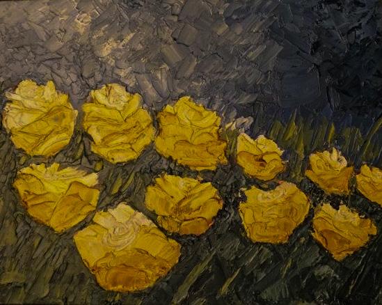 Masha Milidrag - Ulje na platnu 46 x 38 cm  ($380)