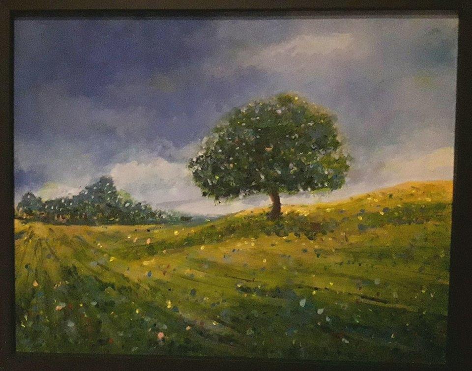 """Tatijana Crnjanski - Akrilik na platnu 16 x 20"""" ($400)"""